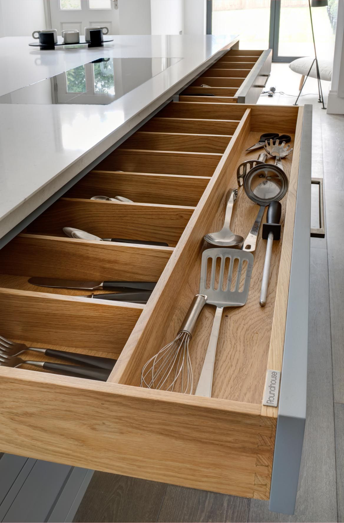 Custom Made Drawer Dividers By Roundhouse Design Helping To Keep Your Kitchenware Organised Round House Kitchen Design Divider Design