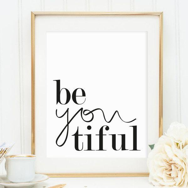 Poster, Digitaldruck, Spruch, Wandbild: Beautiful