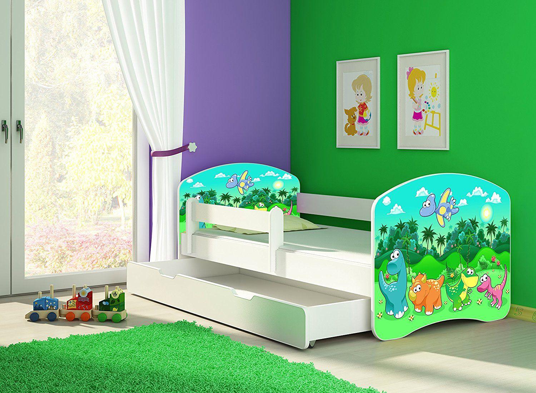 Dino Bett - Kinderbett Komplett Set 140 x 70 cm inkl ...