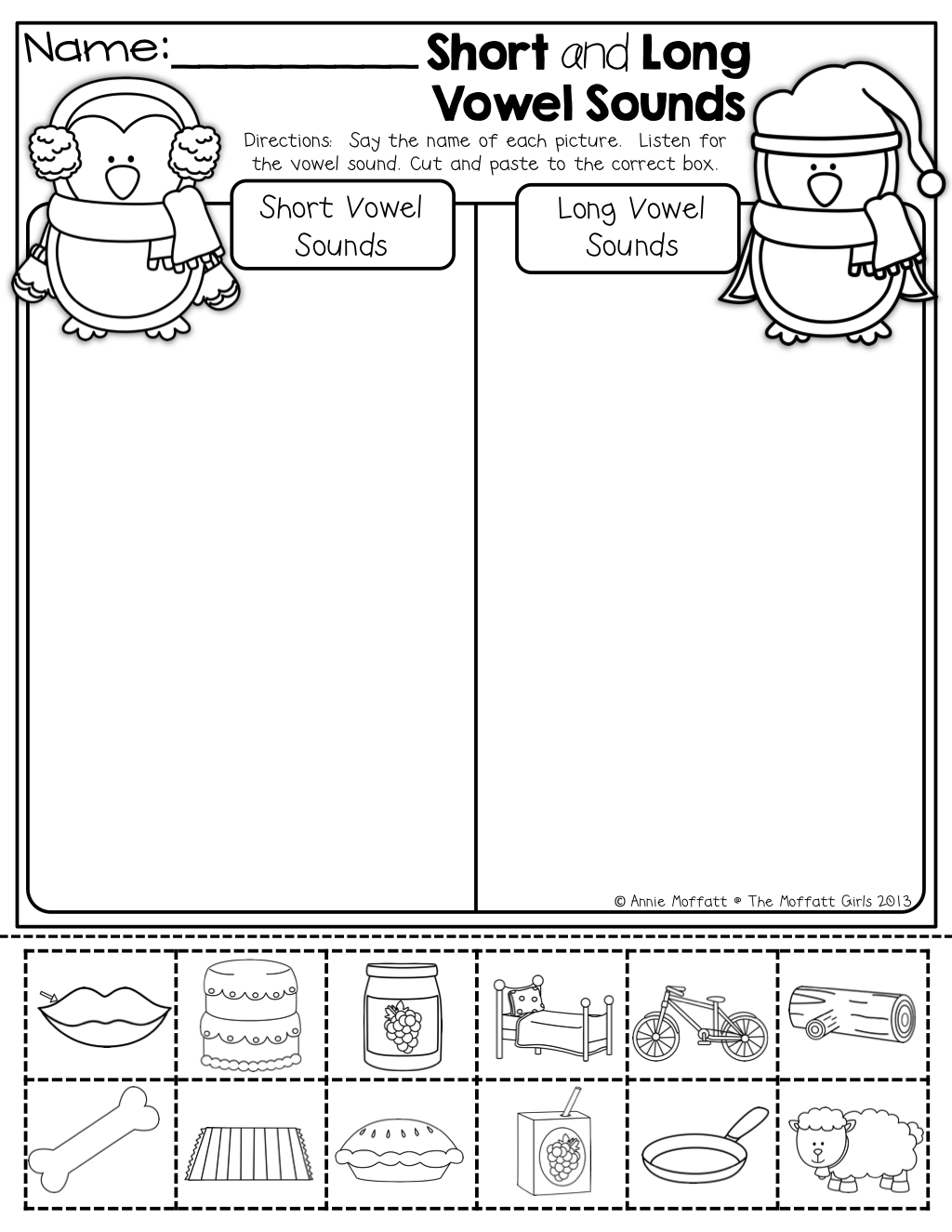 Workbooks short vowel a worksheets kindergarten : Short and Long vowel sounds … | Pinteres…