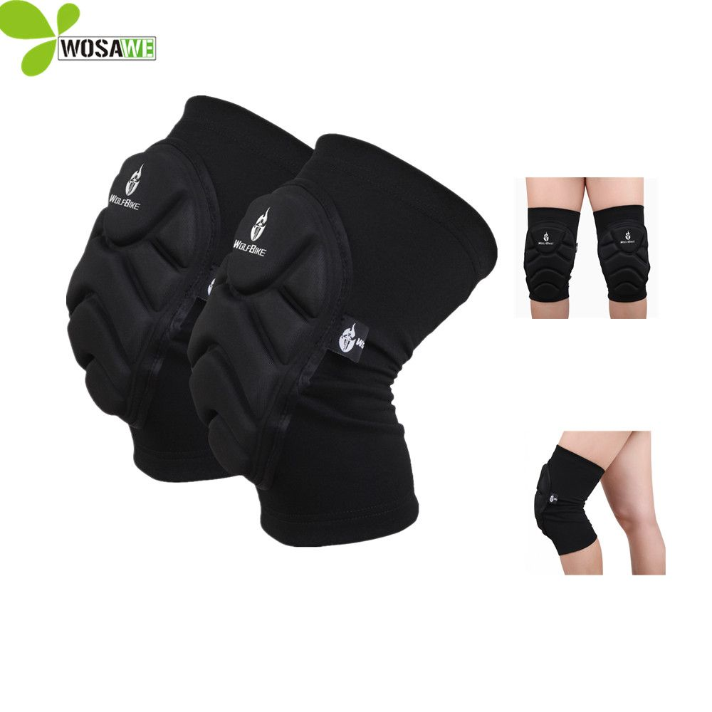 Wosawe Skiing Volleyball Knee Protector Basketball Skateboard Soccer Football Knee Pads Protect Cycling Knee Support K Sports Knee Brace Sport Hockey Knee Pads