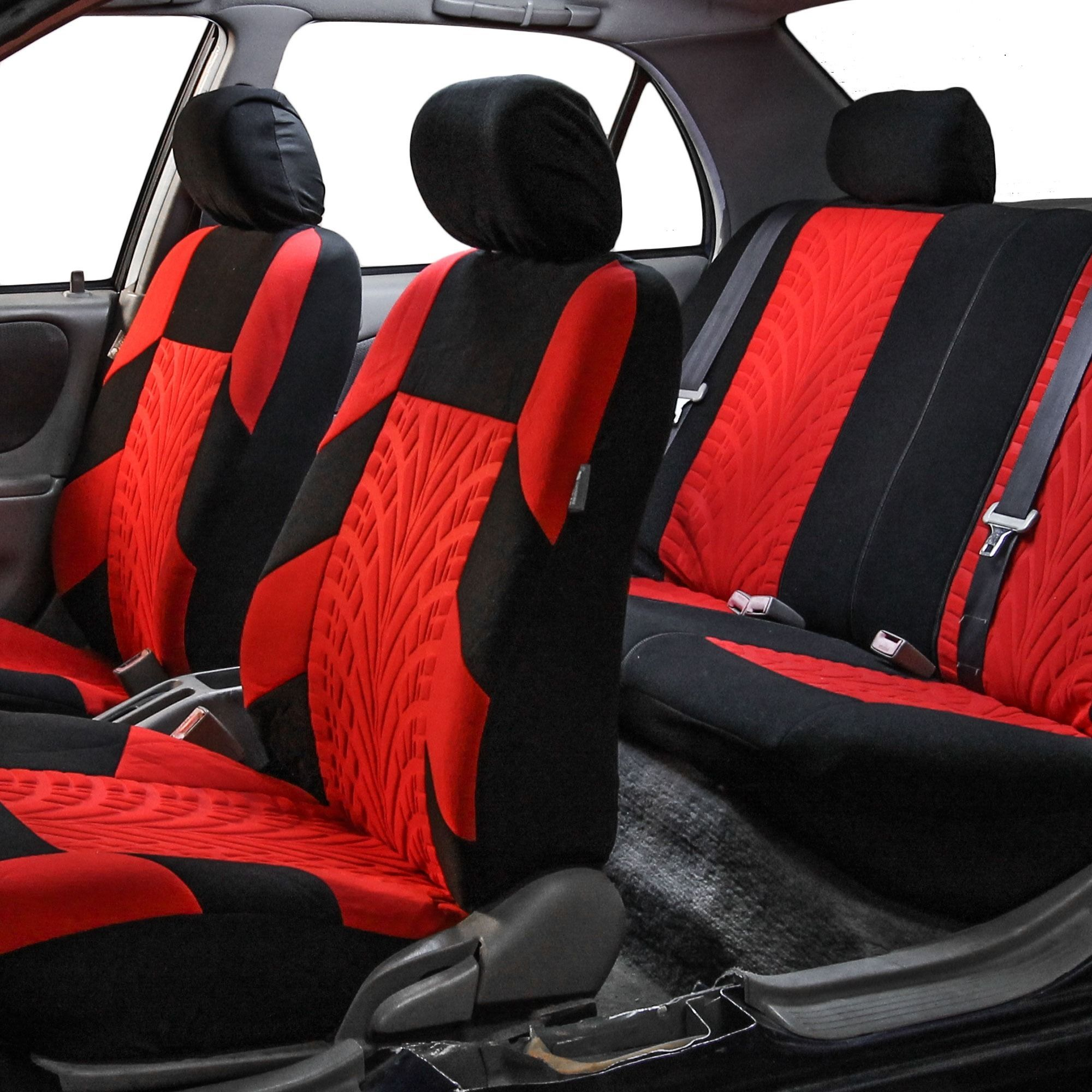 FH Group Red And Black Travel Master Car Seat Covers