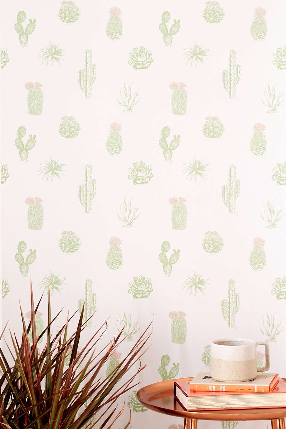 Cactus Icon Removable Wallpaper Funky Home Decor Removable Wallpaper Home Wallpaper