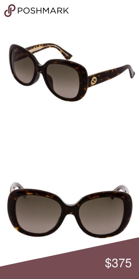 b5d9419198a NWT Gucci sunglasses w case Havana Brown Gradient NWT GUCCI sunglasses With  Case 3830