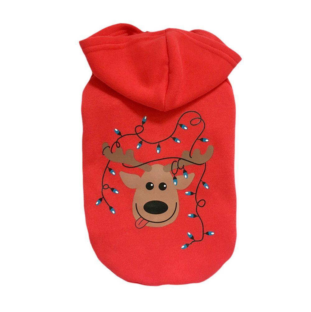 Dog Cat Christmas T-Shirt Clothes Vest Puppy Pet Apparel Costume Coat Jacket New