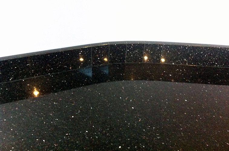 Star Galaxy Black Granite For All The Flooring Of The Restaurant Black Granite Projects Engineered Quartz