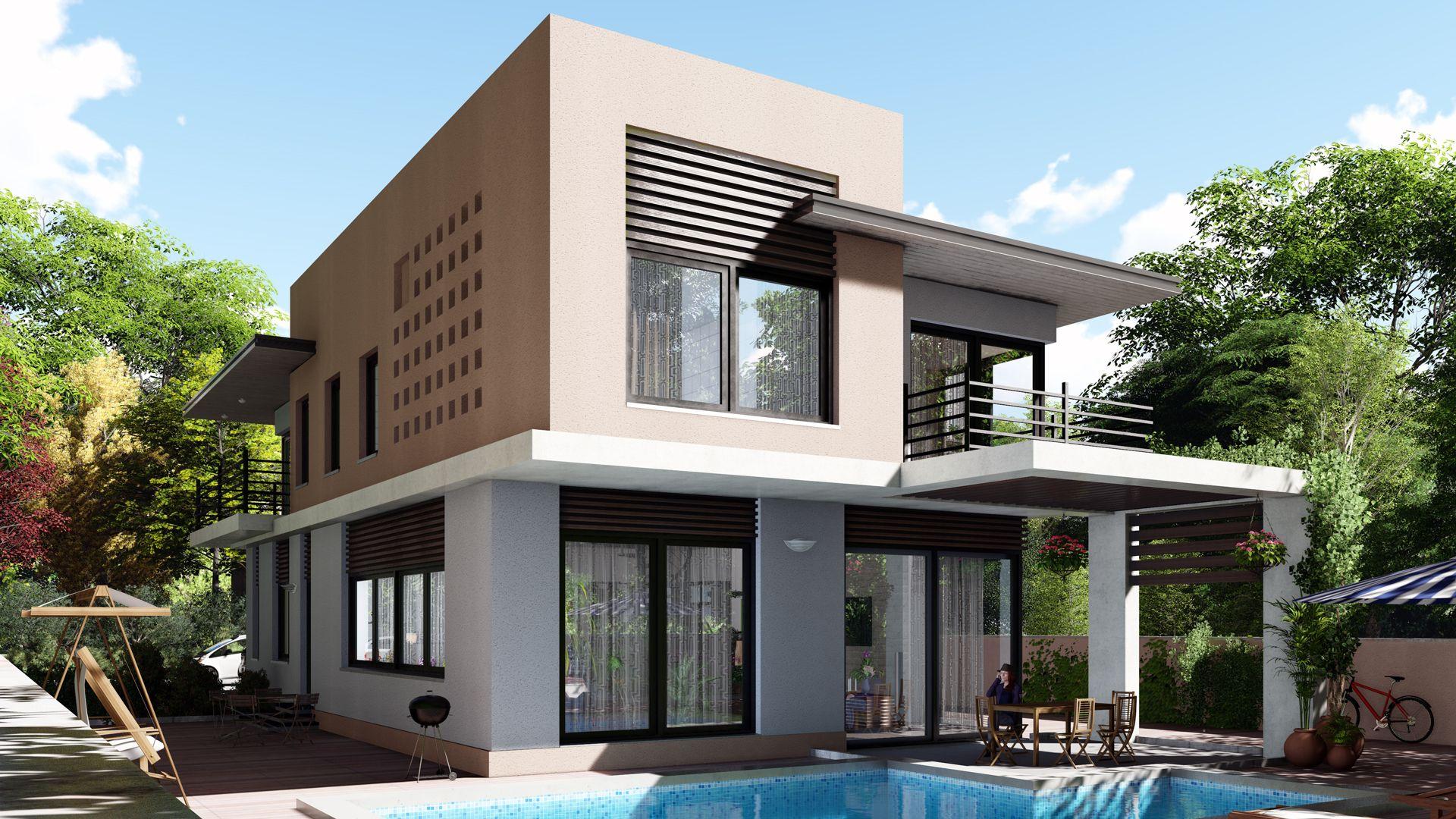 Lumion 7 Villa Garten / Pool Дом