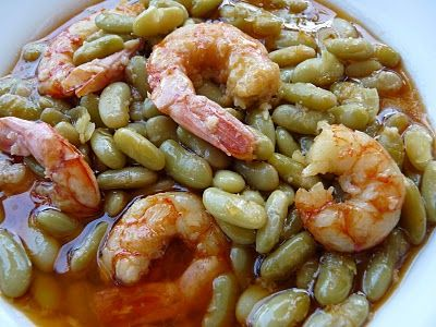 La cocina de Piescu: Fabas verdinas con langostinos | Recetas de ...