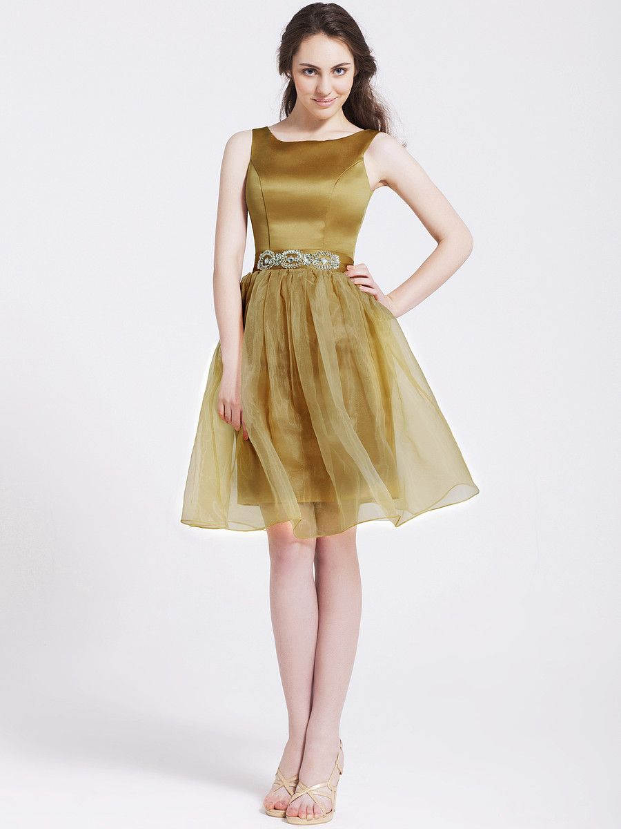 2-Way Organza and Satin Bridesmaid Dress | Wonderful.Weddings ...