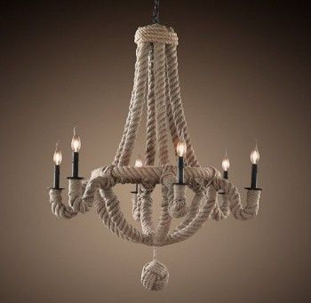 12 Pottery Barn Knock Offs That Will Blow Your Mind Diy Chandelier Chandelier Makeover Rope Decor
