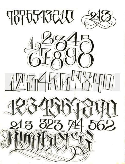 Resultado De Imagen Para Tattoo Numeros Lettering Tatuaje