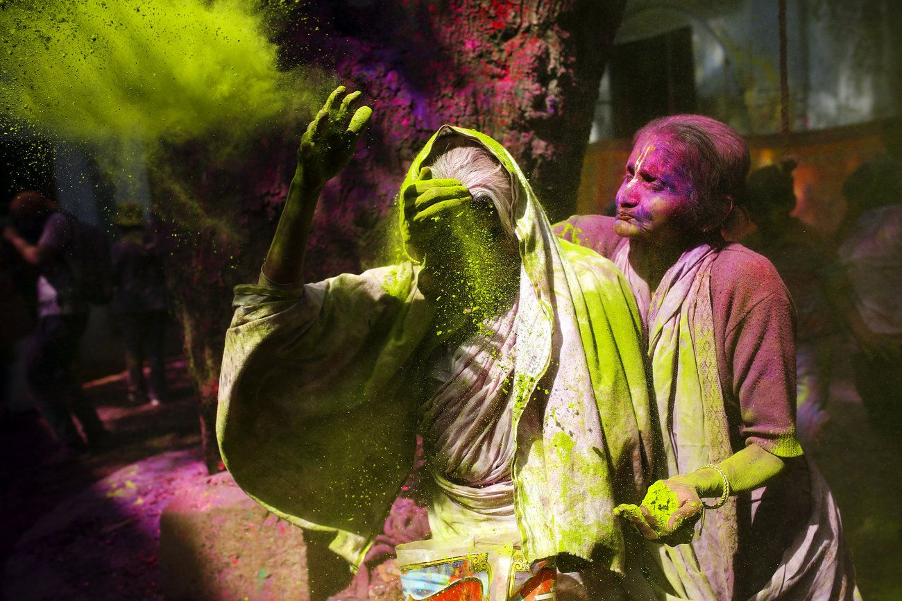 In Vrindavan, India, a group of widows break social taboos and celebrate Holi, the festival of colors. Images bySusannah Ireland