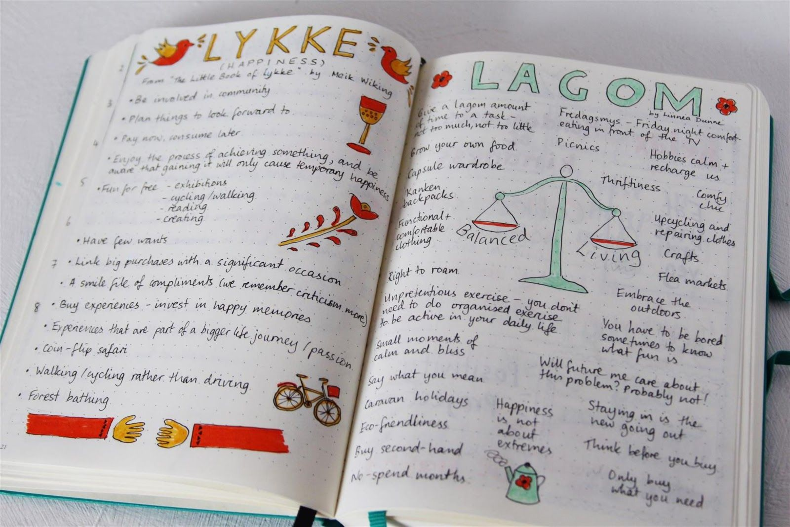 Bullet journal ideas Notes from books