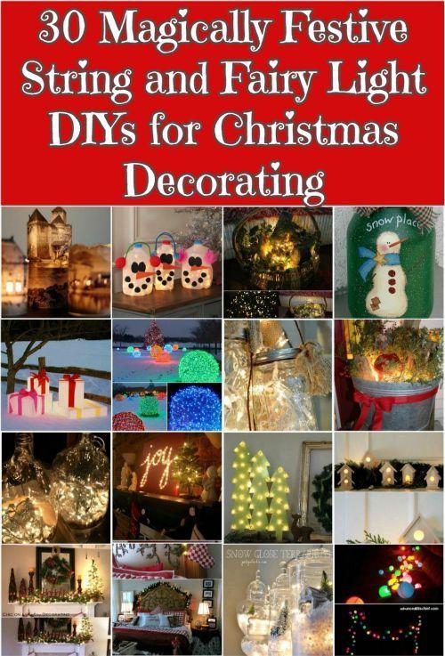30 Magically Festive String and Fairy Light DIYs for Christmas