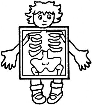Free Medical Cartoon Clip Art Of Xrays Ray Exam Coloring Page