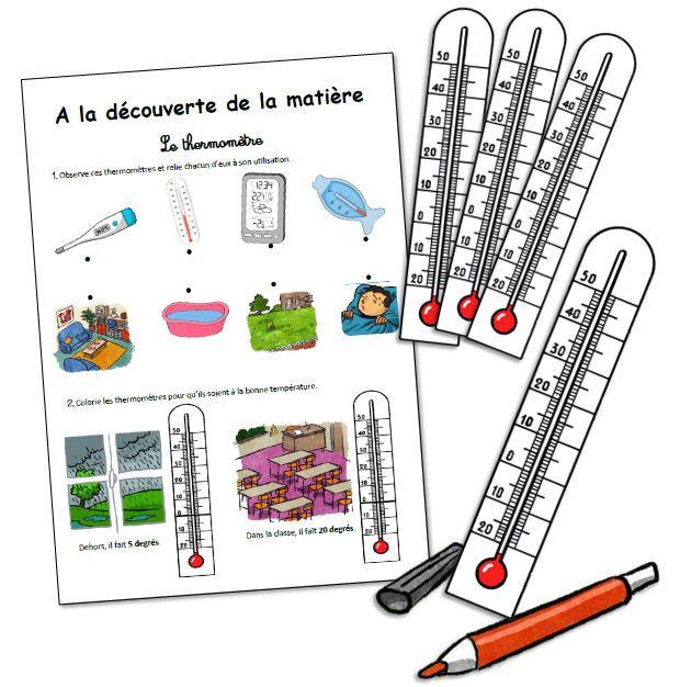 Le thermomètre …   Science montessori, Questionner le ...