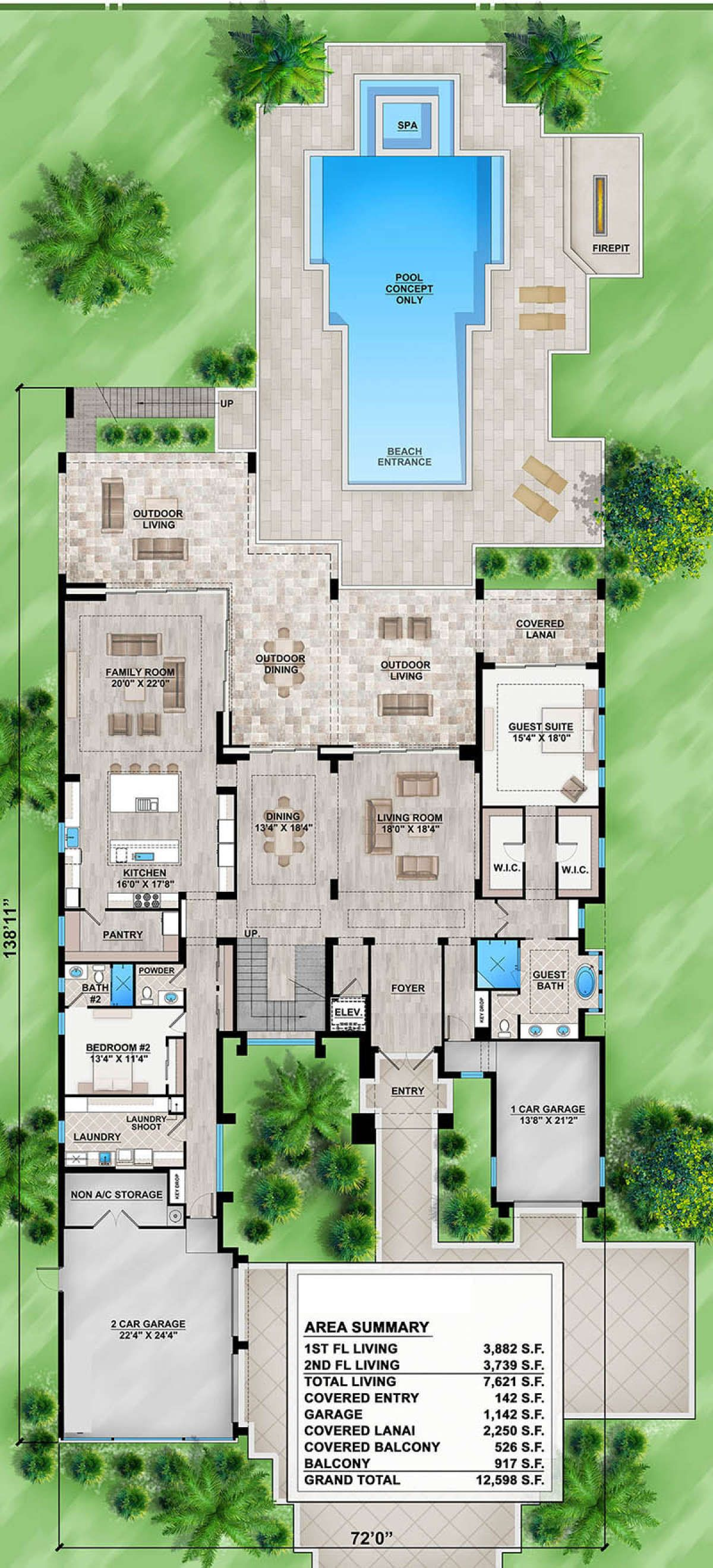 House Plan 207 00051 Luxury Plan 7 621 Square Feet 5 Bedrooms 6 Bathrooms In 2020 Contemporary House Plans New House Plans House Plans One Story