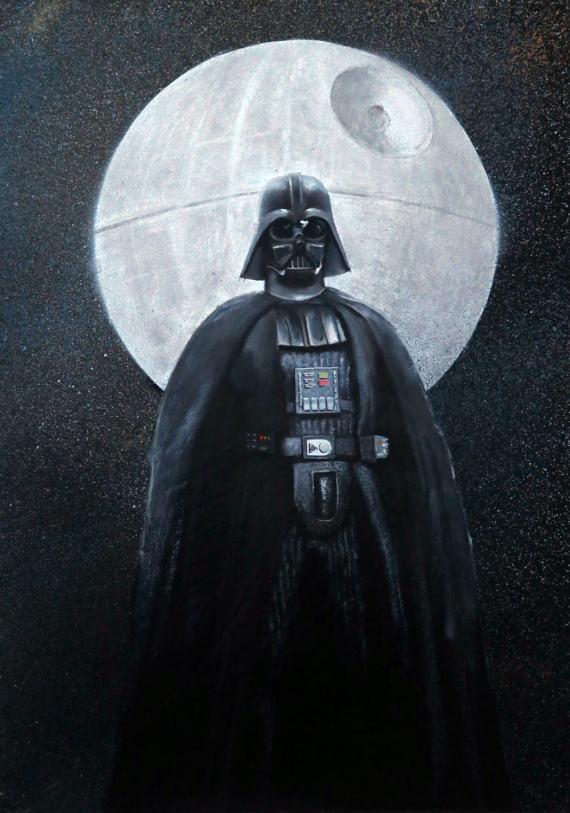 Darth Vader Star Wars Arte Original Guerras De Estrellas