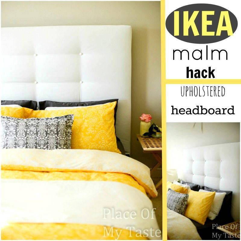 Upholstered Headboard Ikea Malm Hack Placeofmytaste