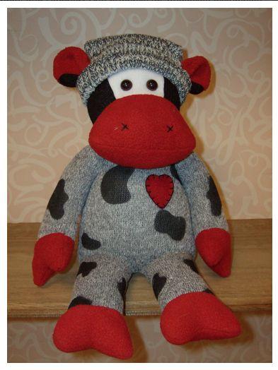 "Sock Cow Doll - Moo 18"" $14.95"