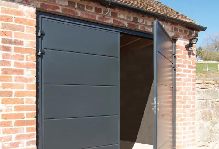 Open Side Hinged Door Installation In Guildford Garage Doors