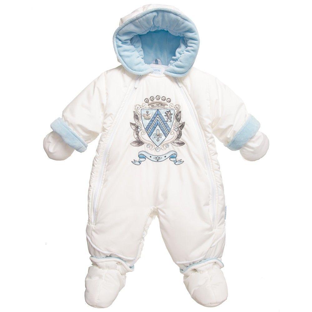 832ad6560a4b Pilguni - Baby Ivory   Blue 2 in 1 Snowsuit