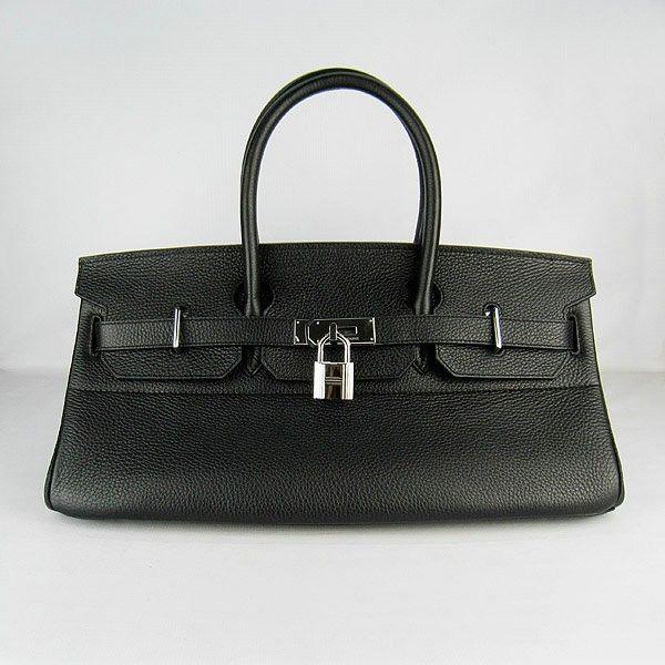 Hermes Short Birkin Bag 42cm in Black w Silver Hardware  a6ef5570da