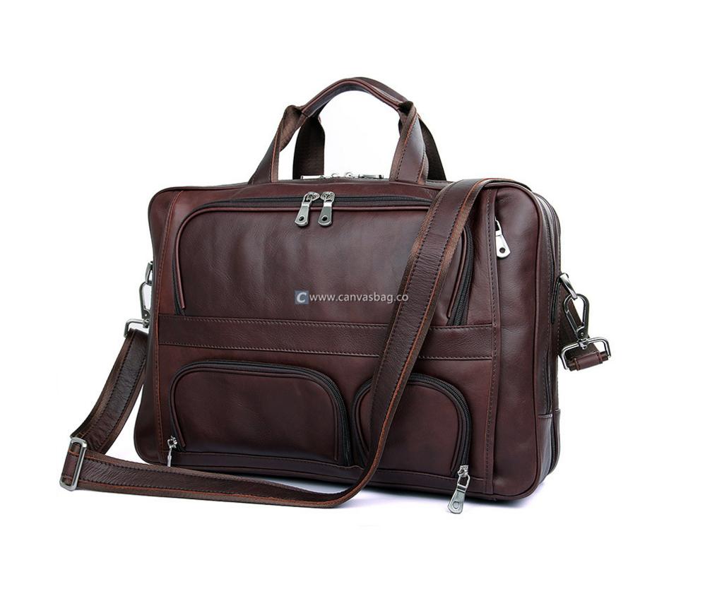 Leather Laptop Bags For Men Vintage Messenger Bag