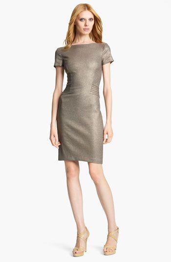 Blumarine Metallic Pencil Dress available at #Nordstrom