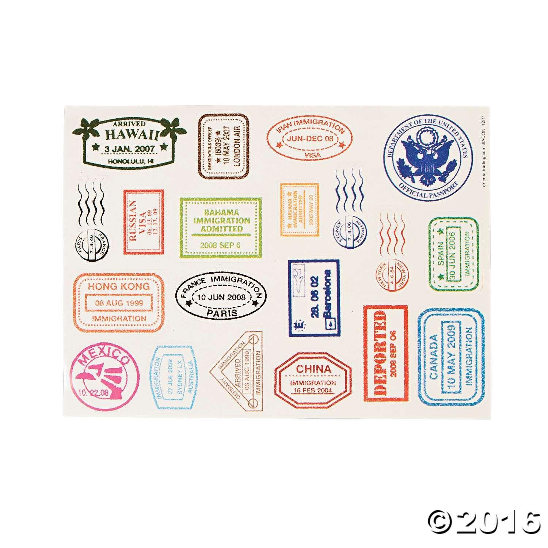 passport stamp sticker sheets passport stamps and activities