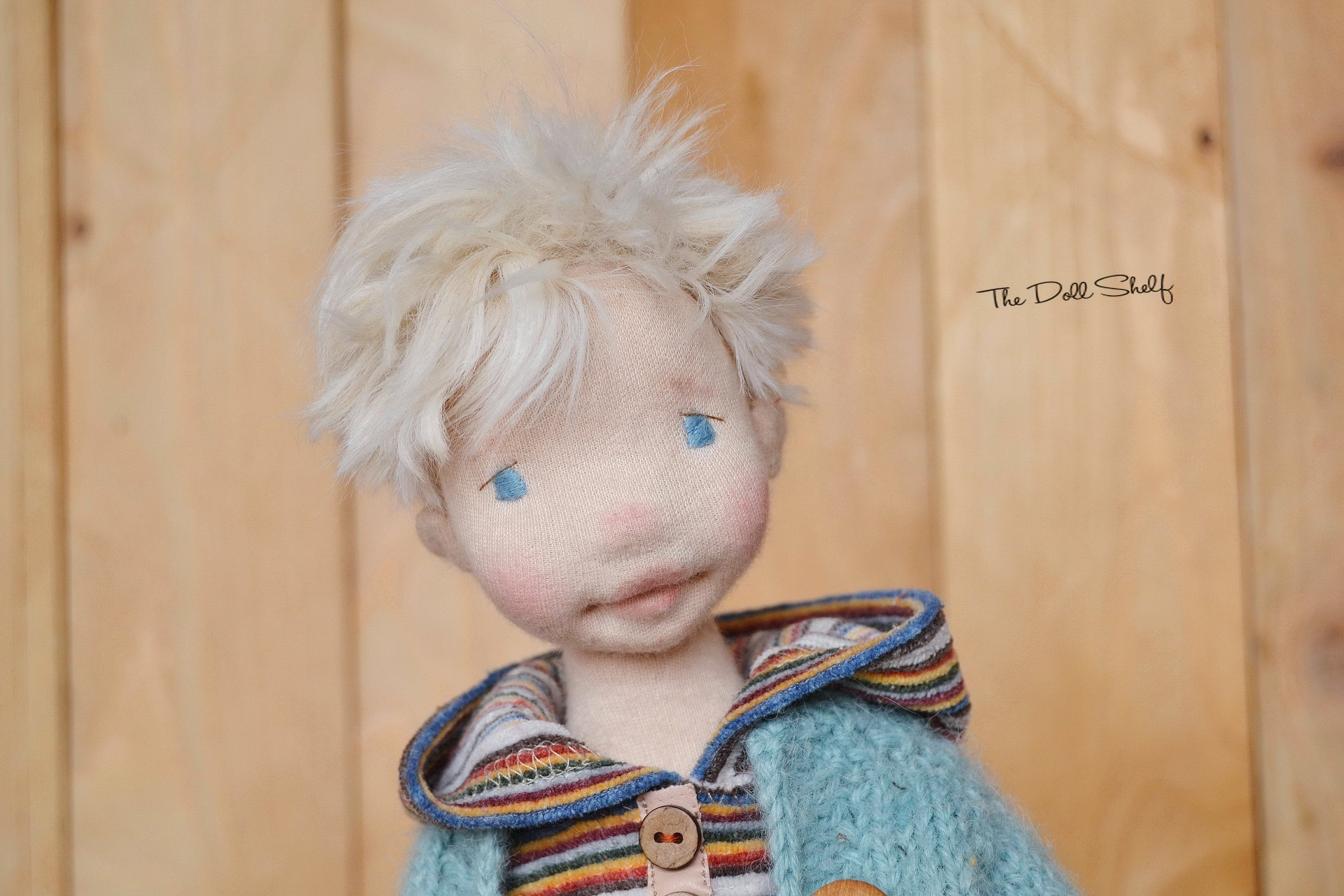 Waldorf Inspired Art Doll Boy Dimitry 16 Inch With Partial Wire