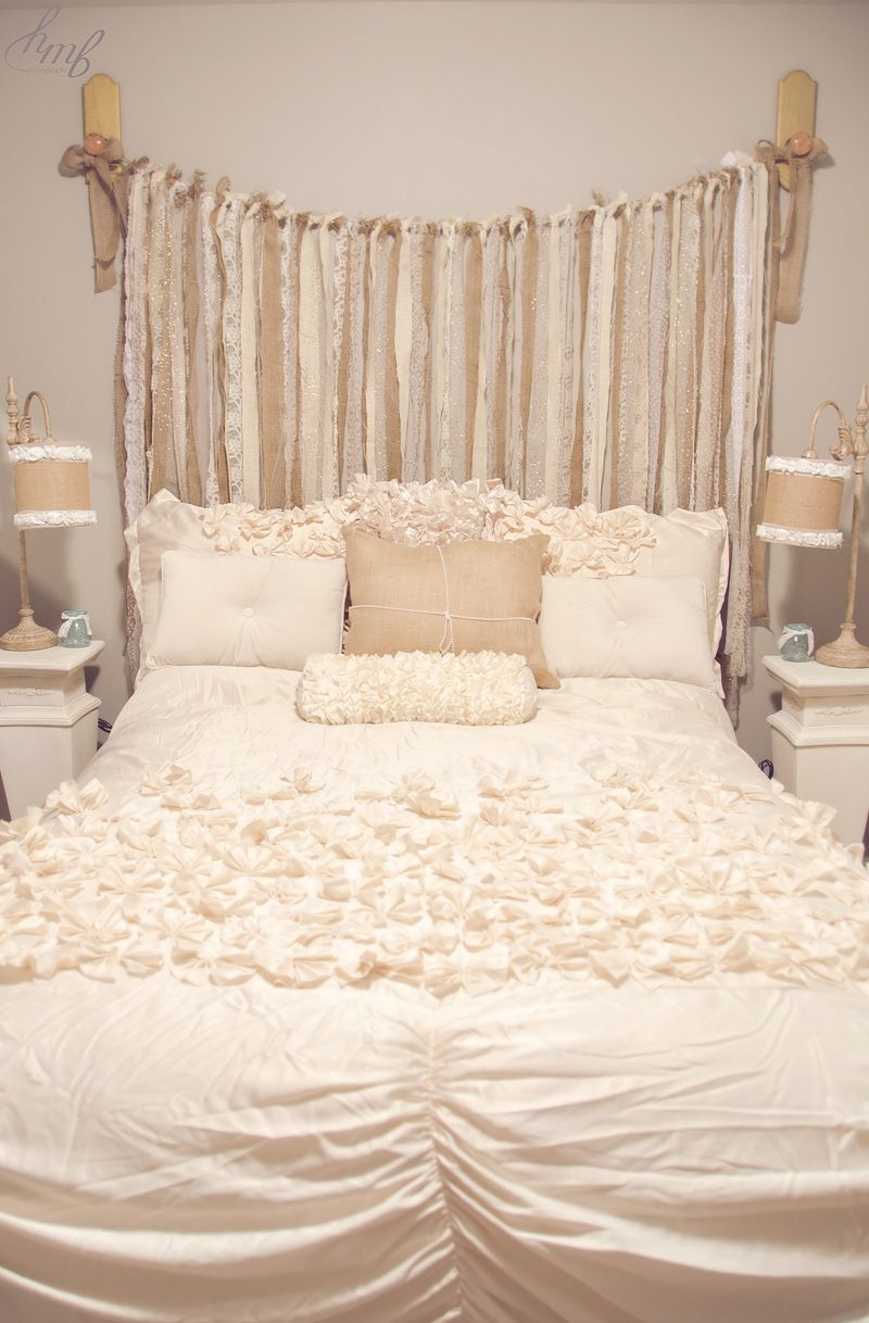 Our guest bedroom makeover | Burlap lace