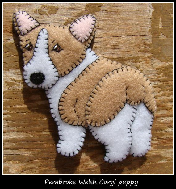 Corgi Ornament plus refrigerator magnet by justsue on Etsy