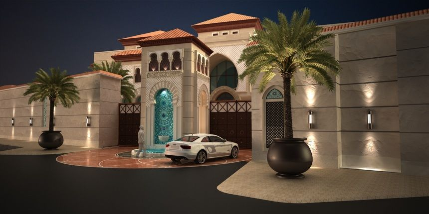 Andalusian villa nba nadia h bakhurji architects for Villa rose riyadh interior design