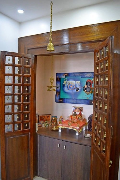 9 Traditional Pooja Room Door Designs In 2020: Simple Tricks To Build A Beautiful Pooja Room For Indian