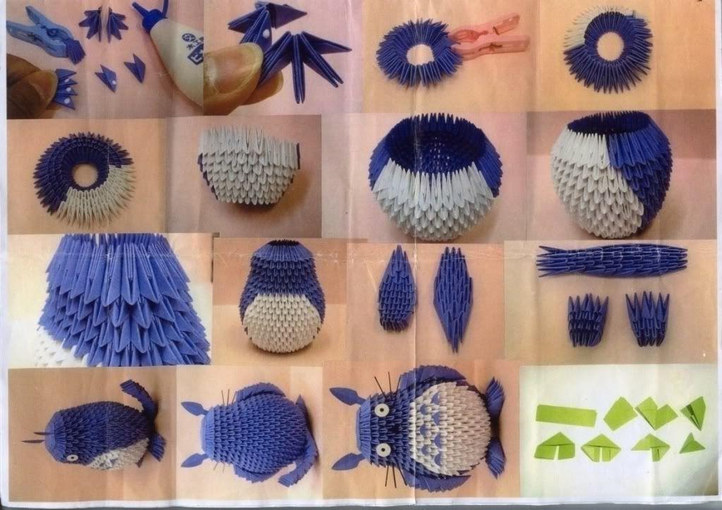 3d origami totoro instruction ���� pinterest �������