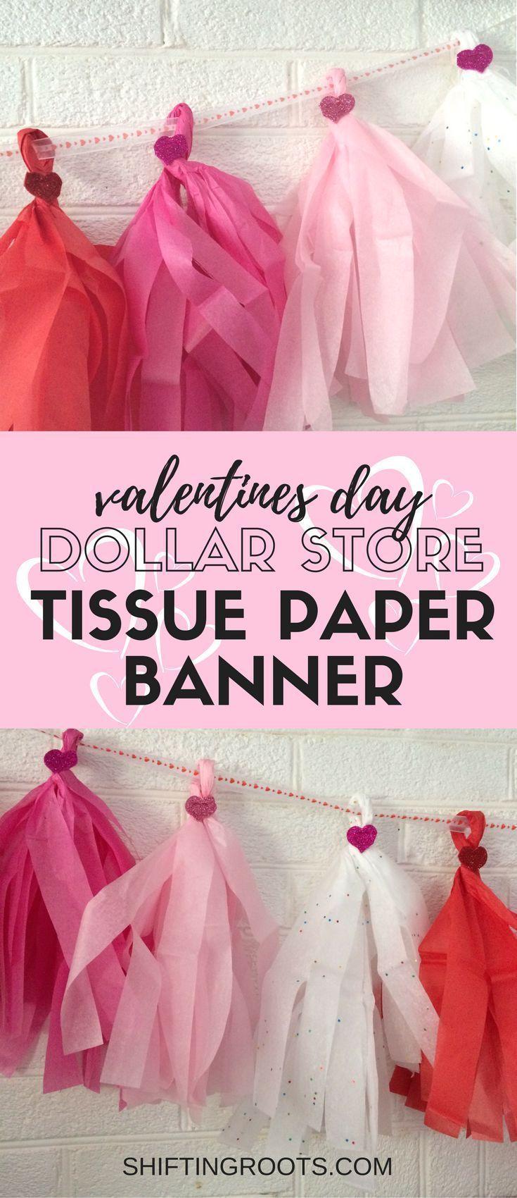 Dollar Store DIY Valentines Day Banner