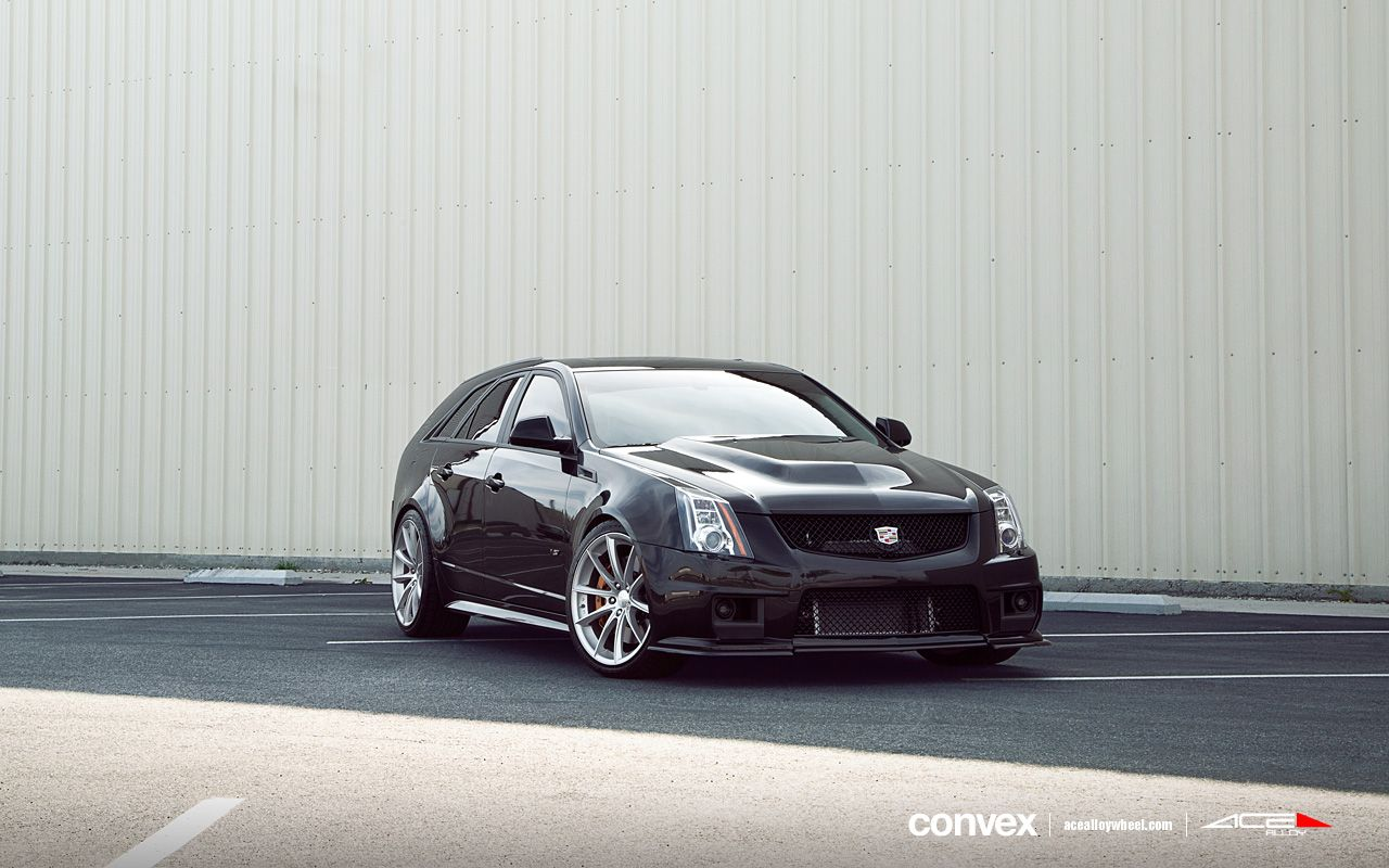 Cadillac cts v wagon w 20 convex wheels