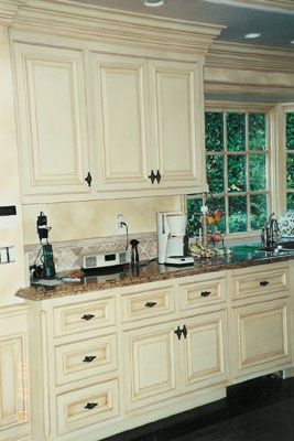 blue/gray stained cabinets instead of paint? am i crazy