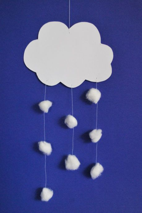 Photo of Making Snow Cloud – Kinderspielewelt.de Christmas crafts with children. DIY on …