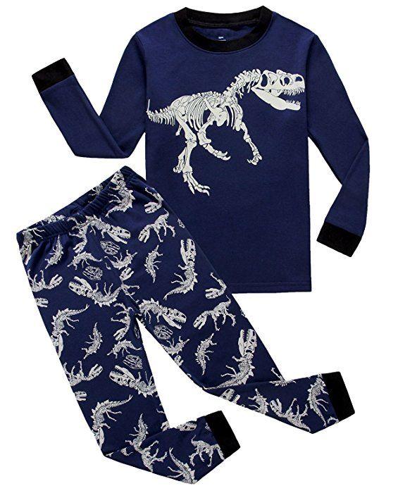 Little Boys Pajamas Dinosaur 100/% Cotton Long Sleeve Pjs Toddler Clothes Kids Sleepwear