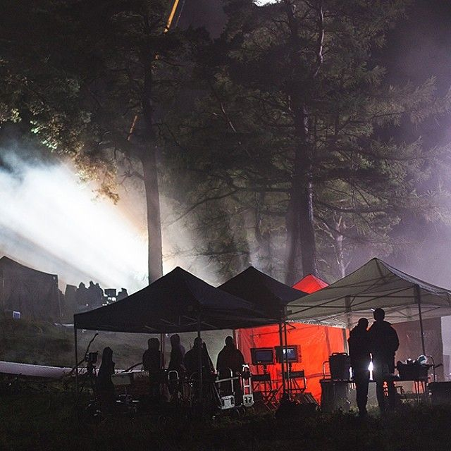 Here's an inside look at the cast and crew's monitor viewing spot where they can watch the action being filmed in the distance.  #OutlanderSeries #STARZ #BehindTheScenes #AViewFromBelow