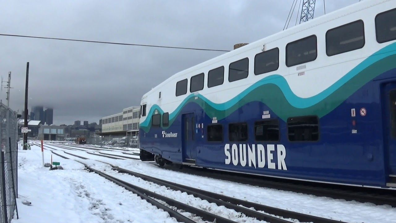 Railfanning Seattle In Rare Snow Storm Youtube In 2020 Snow Storm Seattle Storm