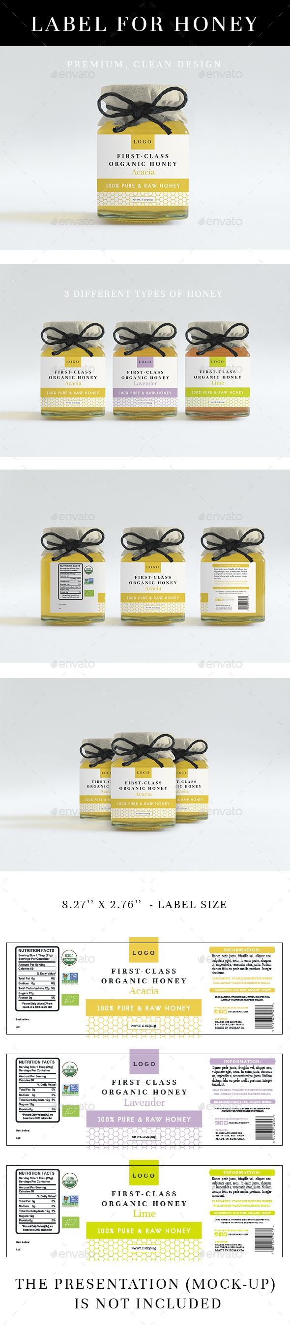 Honey Label Template Psd Vector Eps Ai Illustrator Design