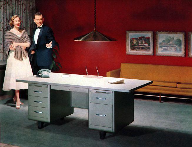 plan59 retro 1940s 1950s decor furniture vintage office f