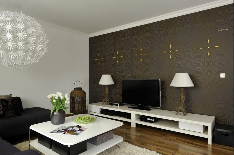Tapeten Ideen Wohnzimmer Bilder Von Modernen Wohnzimmer Wand