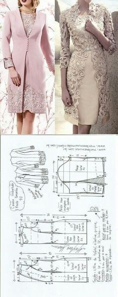 Jacket adorned with lace...