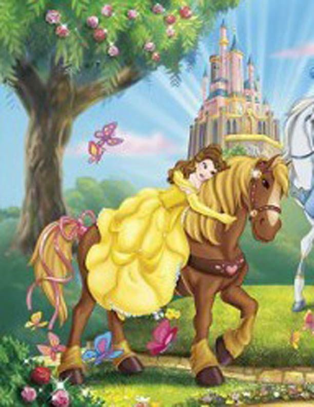 Disney Princess Photo Belle Rides A Horse Disney Horses Disney Beauty And The Beast Beauty And The Beast Party