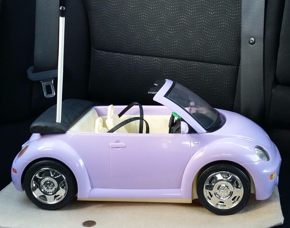 VW 2003 vw bug : Mattel 2003 Barbie Purple VW Beetle Bug Convertible RC Car Vehicle ...