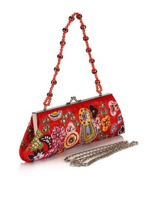 Shoulder Clutches Vintage Polyester Red Small Bags